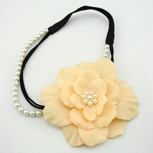 Wholesale 100% Handmade Flower Head Band Wedding Hair Accessories With Bead