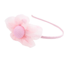 New Designed Baby Flower Lace Fabric Hairband with Big Flower