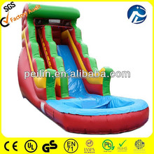 commercial wet/dry slide inflatable , water slides for kids with pool