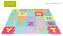Letters Puzzle Play Mat 26 Tiles EVA Foam Rainbow Floor