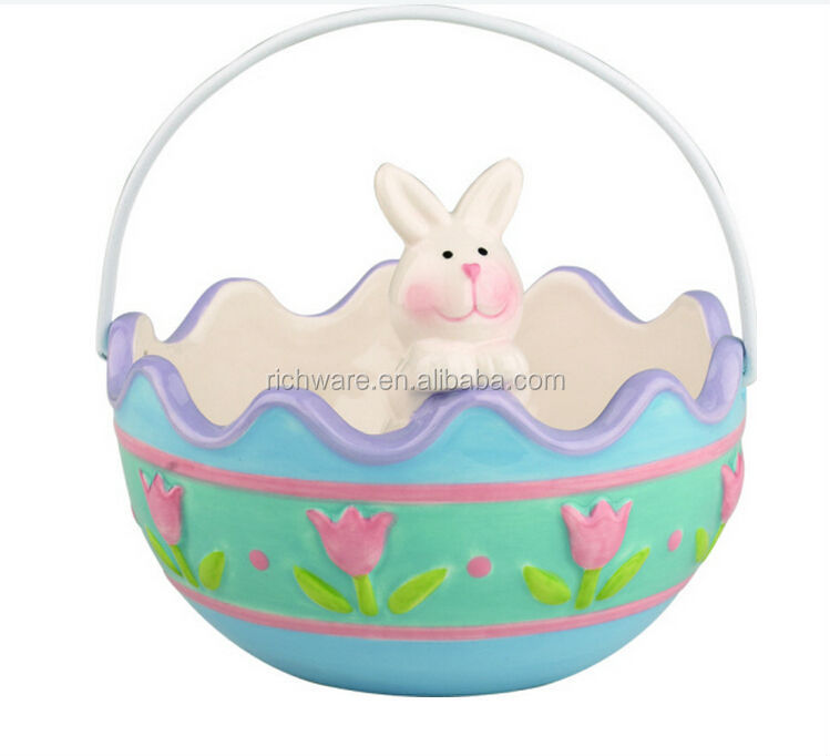 "New Easter Dol Bunny/Chick Container 5.00"" x 5.00"" x 4.00"""