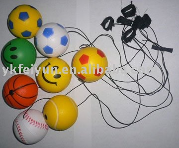 anti stress balls with elastic string