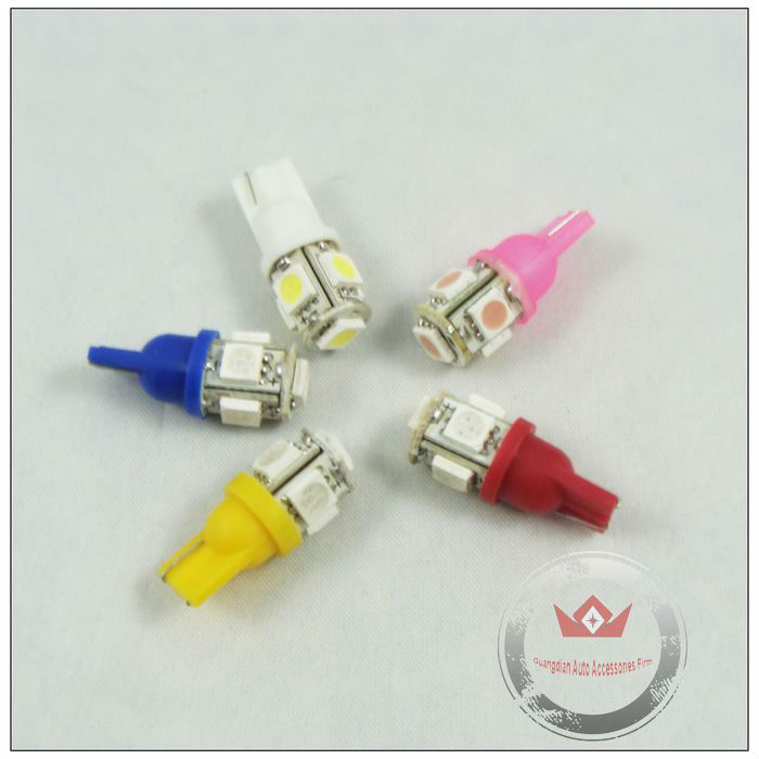 Best quality hot selling auto led bulb t10 smd 5050 led lamp 12v dc white/red/yellow/blue/green/pink