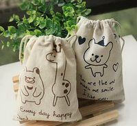 Elegant appearance best sell low price calico cotton drawstring bag