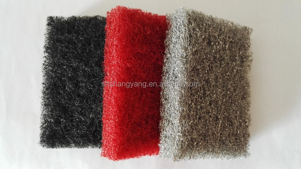 Kitchen Cleaning Products Three Colors Nylon abrasive Scouring Pad