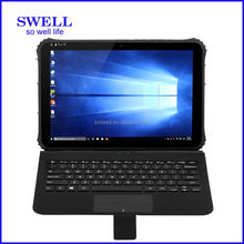I22H 12 inch rugged loptap win10 OS ip65 Dual Boot Handheld 280 nit screen intel Z8300 rugge computer with rj45 serial port NFC