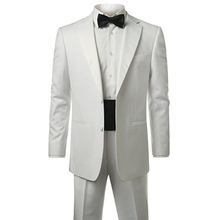 Checkout Casual Slim Fit Business Suit Long Sleeve Formal Blazers White Men'S Suit For Wedding