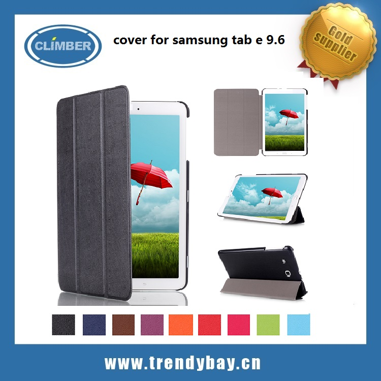 Ultra Slim Lightweight Stand leather flip case cover for samsung galaxy tab e 9.6 T560 T561 tablet