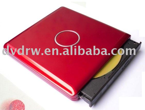 External USB2.0 Lightscribe DVD-RW with Red Piano Box