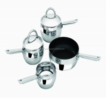 6pcs 18 10 stainless steel arcoflam pan cookware/italian cookware set