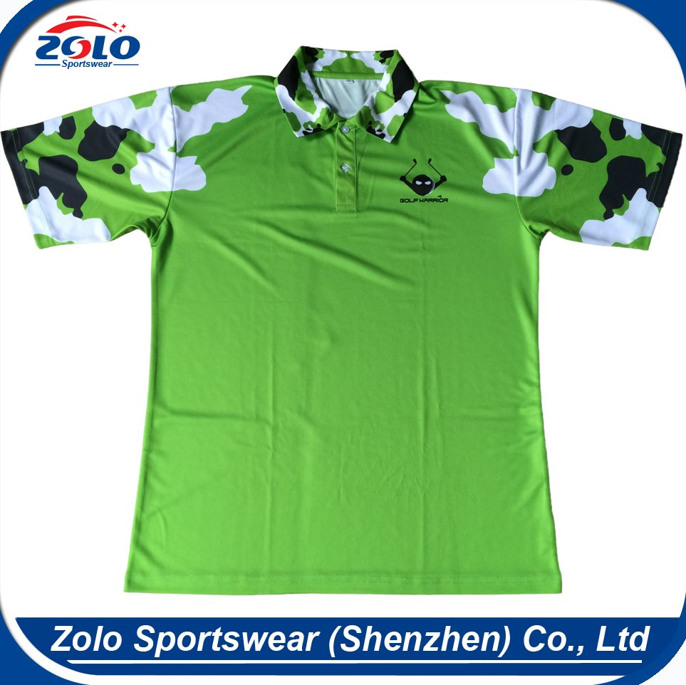 Cheap Custom Made New Design Mens Sublimated Printing Polo Shirt