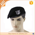 Embroidery knitted military beret China manufacture winter lining army beret hat
