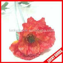 new design wholesale silk flowers poppies