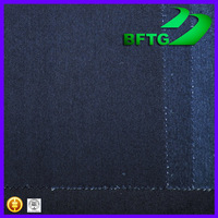 China supplier factory wholesale 9.6 OZ yarn dyed twill denim jean woven polyester cotton fabric