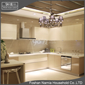 Fashion designs bright lacuqer kitchen cabinet with wall cabinet