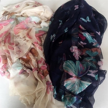 Ladies head scarf hijab/Floral Print Voile Scarf shawls materials
