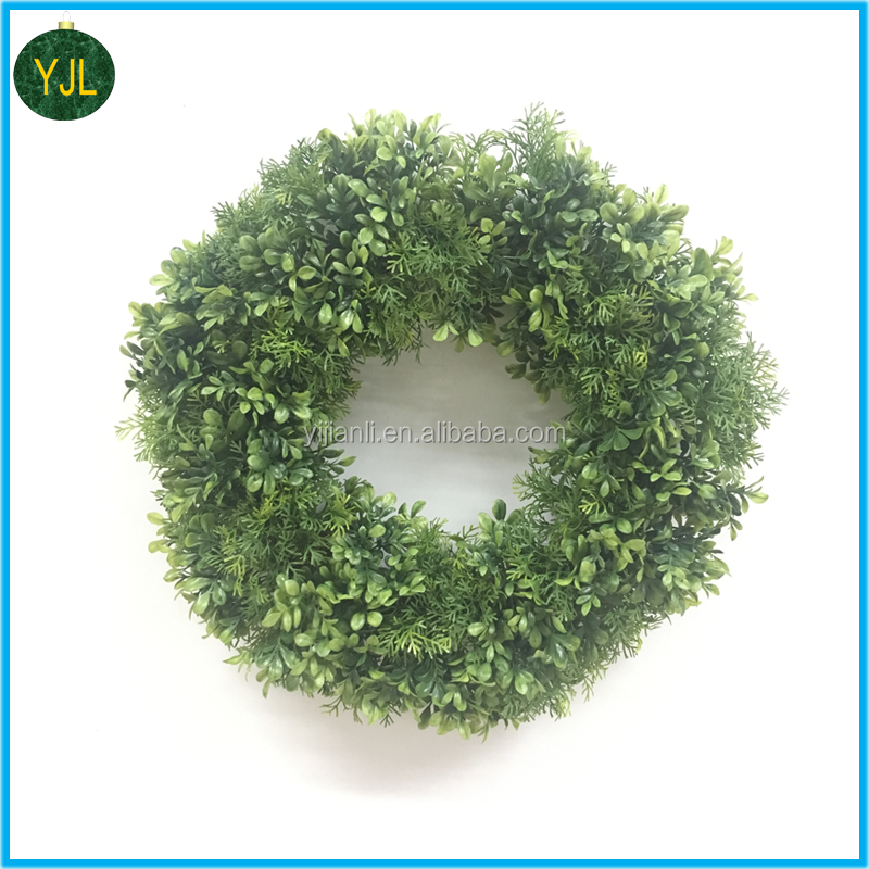 Artificial boxwood Leaves Wreath for decoration