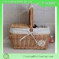 New design cheap empty picnic basket for sale large wicker basket disposable picnic basket