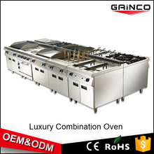 China supplier OEM ODM commercial restaurant kitchen equipment electric gas cooker combination oven grill fryer range griddle