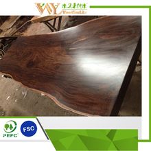 Ebony Wood Slab Dining Table,Reclaimed Wood Solid Slab Dining Table