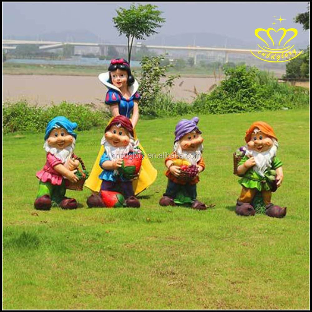 snow white and the seven dwart tall statues resin craft