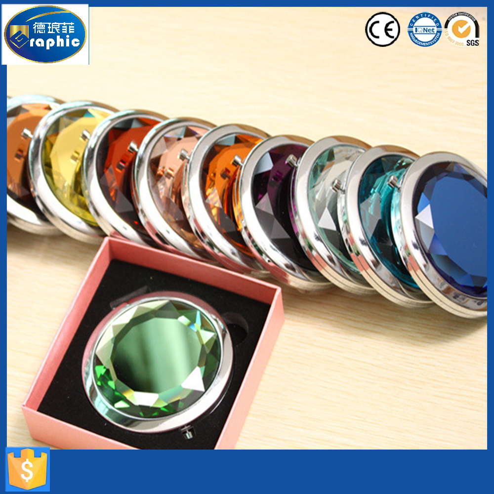 Compact pocket round metal decorative mirrors in alibaba