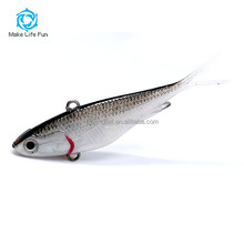 Wholesale 55/95/115mm Lifelike Japanese Soft Plastic Fishing Lures Soft vibe lure