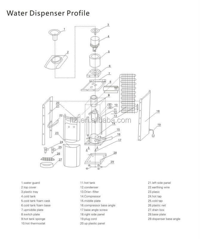 Water Dispenser Parts Type Plastic Water Dispenser Tap