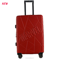 24inch double aluminum trolley hard case travel zipper luggage bag