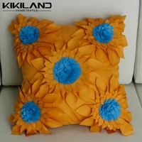 3D outdoor waterproof cushion covers handmade sunflower pillow cases