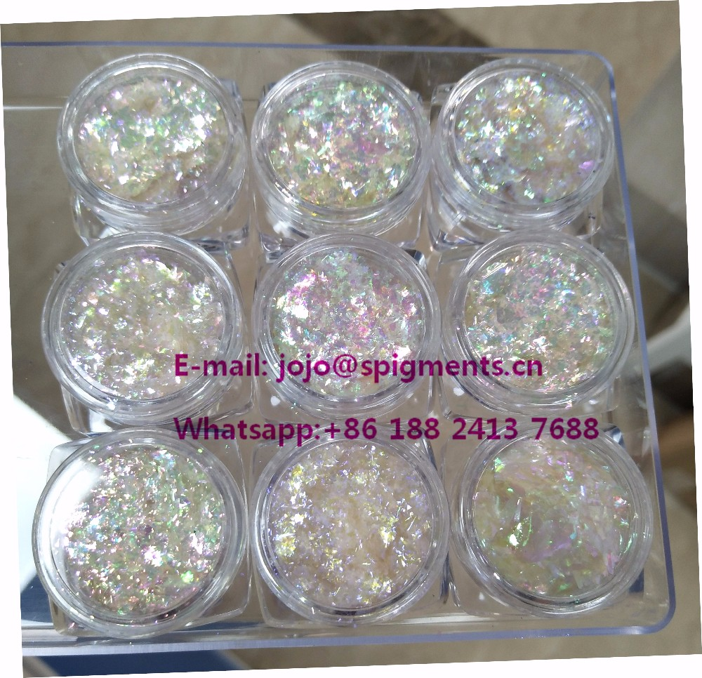 Transparent Chameleon Flakes in Pigments,chrome nail flakes pigments