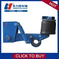 steering heavy duty swivel wheel trailer suspension