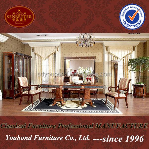 0010 Chinese factory prices solid wood long meeting table mahogany dining room sets
