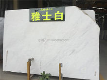 High-end place Polished natural white stone(Factory Certification) interior decoration sale natural marble stone