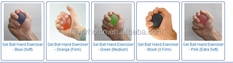 Gel therapy massage hand exerciser ball