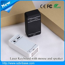 Third generation bluetooth virtual laser keyboard with mouse,speaker,voice prompt function