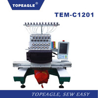 TOPEAGLE TEM-C1201 single head high quality computerized embroidery machine price