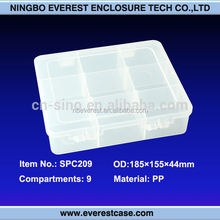 storage clear hard plastic boxes with hinged lid