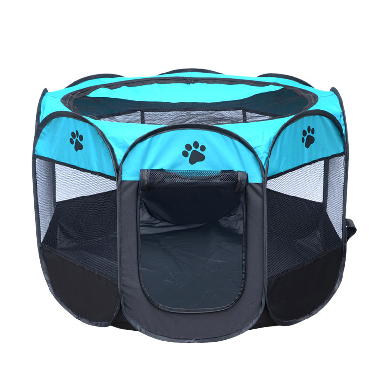 Detachable folding octagonal large small animal camping tent pet fence cat dog cage