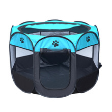 Detachable folding octagonal large small camping tent pet fence cat dog cage