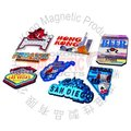 Travel And Tourist Attraction Embossed Magnet Sticker