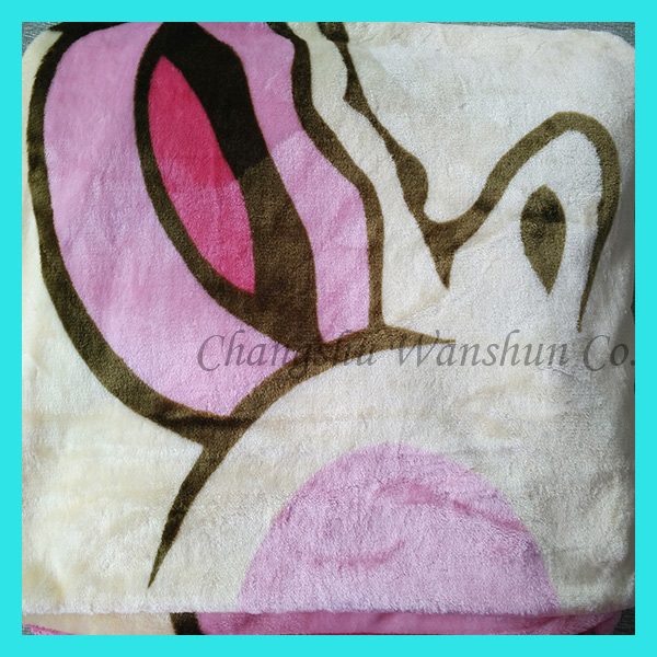 Free sample super soft custom print kashmir blanket