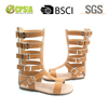 High quality wholesale genuine leather kids gladiator sandals for boys and girls