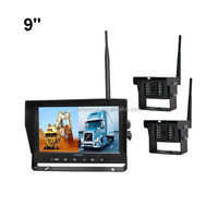 100% OEM ODM Factory 2.4GHz Digital Wireless Forward Side Rear View Wireless Backup Camera with Recording Monitor
