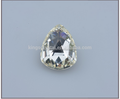 Nice cutting point back gemstone ,Clear color 10mm triangle shape fancy stone ,fancy stone for fashion garments