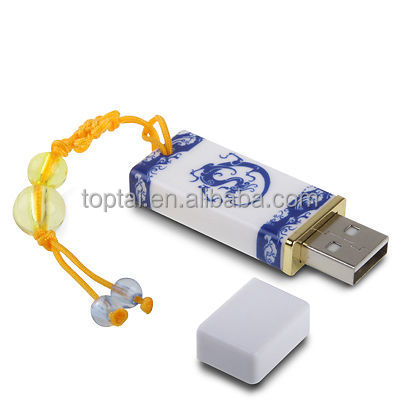 Hot usb flash drive new hot pendrive Blue and white porcelain pen drive 32GB 16GB 8GB 4GB Ceramics usb 2.0 memory sticks