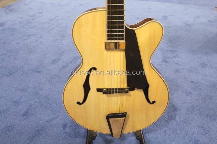MUSOO BRAND Handcrafted Archtop Jazz Guitar Electric Guitar With Hardshell Case(AR1100)