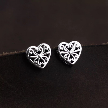 2019 hottest heart stud earrings 925 sterling silver earrings for women jewelry