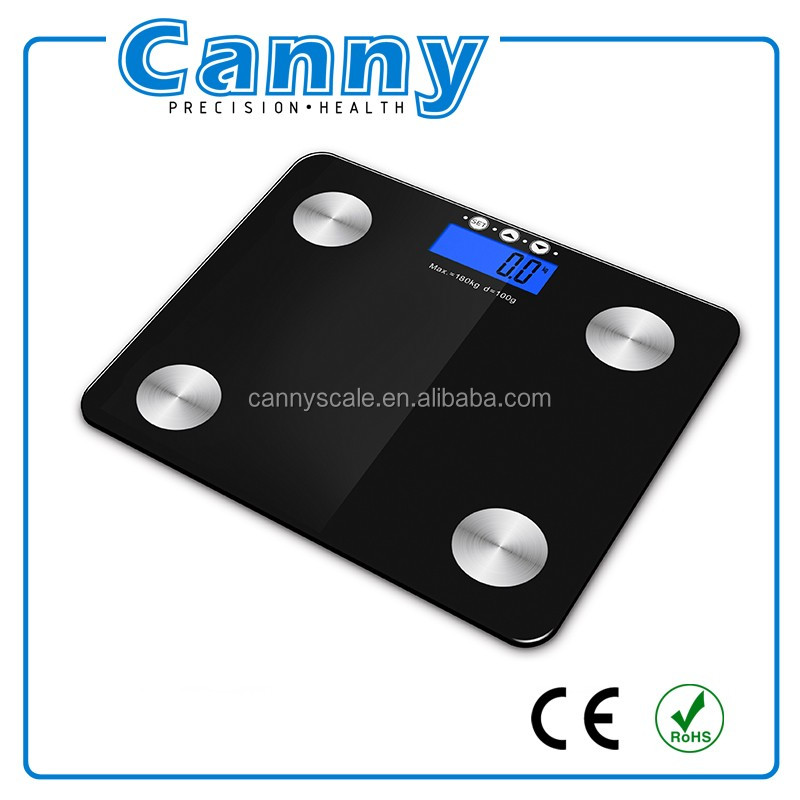 Digital Bathroom Scale - Measures Weight, Body Fat, Water, & Bone Mass