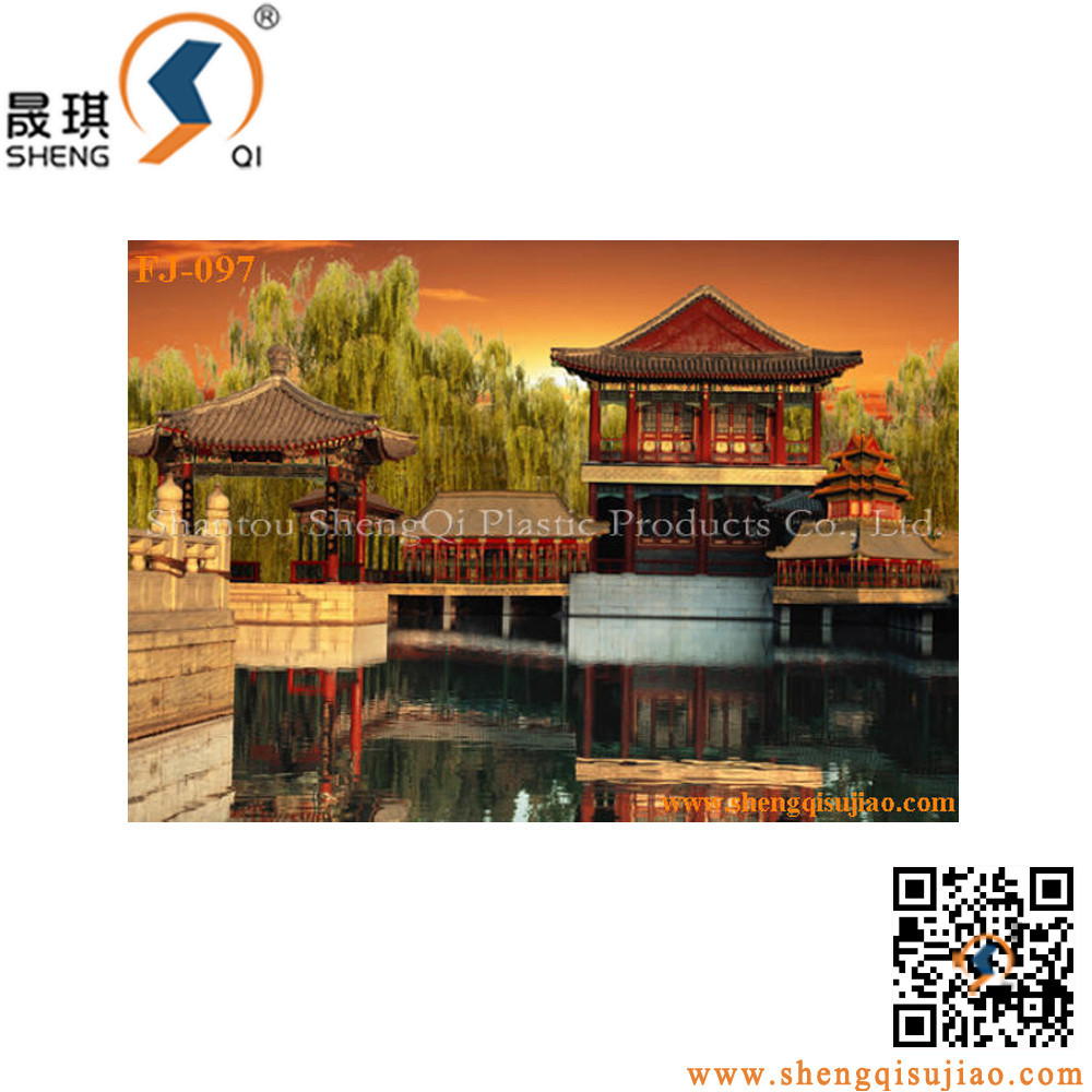 3d At Dusk Natural Scenery traditonal building 3D Lenticular printing Picture